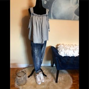 SUKO JEANS Off the shoulder jean top
